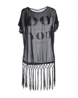 Блузка KONTATTO. Цвет: черный