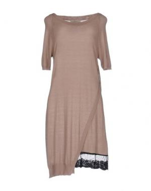 Короткое платье JUST FOR YOU. Цвет: песочный