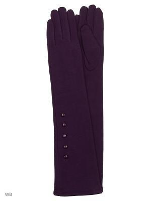 Перчатки Palantini. Цвет: фиолетовый