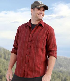 Фланелевая Рубашка в Полоску AFM. Цвет: в-полоску
