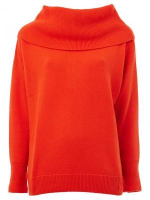 Cashmere wide collar sweater Maison Ullens. Цвет: жёлтый и оранжевый