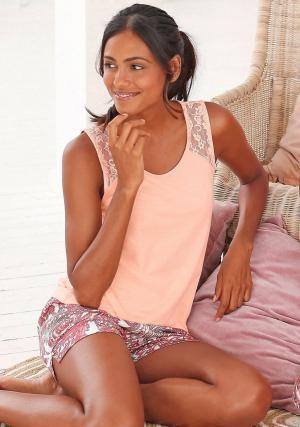 Пижама с шортами Otto. Цвет: оранжевый