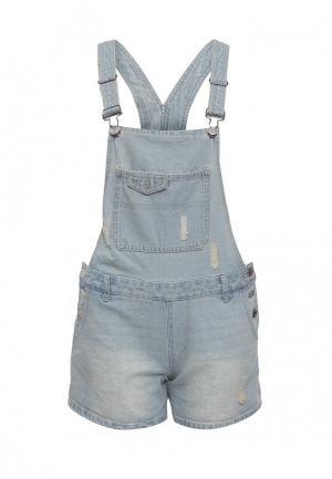 Комбинезон джинсовый Jennyfer. Цвет: голубой