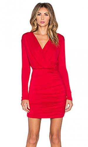 Мини платье kelsi De Lacy. Цвет: красный