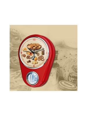 Кухонные настенные часы Magic Home. Цвет: красный