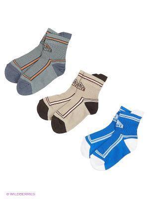 Носки - 3 пары Гамма. Цвет: серый, бежевый