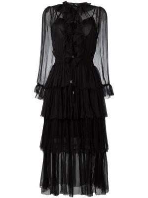 Платье Winsome Tier Zimmermann. Цвет: чёрный