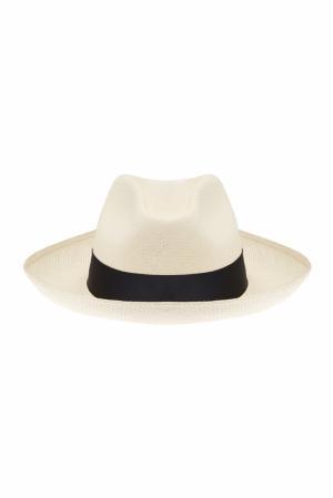 Соломенная шляпа Clasico White Artesano. Цвет: слоновая кость, черный