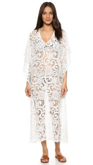 Кружевное пляжное платье St Tropez Nantucket 9seed. Цвет: белый