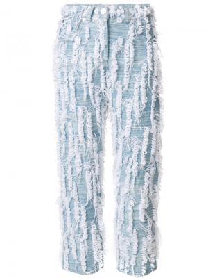 Укороченные джинсы с отделкой Faustine Steinmetz. Цвет: синий