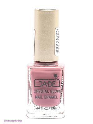 Лак для ногтей Crystal glow nail enamel, тон 413 GA-DE. Цвет: лиловый