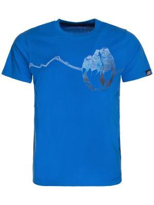 Футболка Alpine PRO. Цвет: лазурный