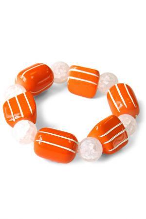 Браслет Divetro. Цвет: оранжевый