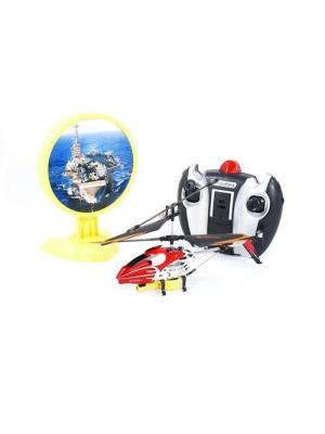 Радиоуправляемый вертолет с инфракрасной пушкой и мишенью Властелин небес красный ВластелиНебес. Цвет: красный