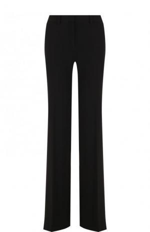 Однотонные расклешенные брюки со стрелками Theory. Цвет: черный