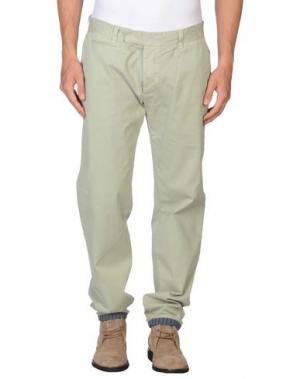 Повседневные брюки G2CHOICE. Цвет: светло-зеленый