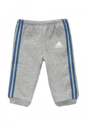 Брюки спортивные adidas Performance. Цвет: серый