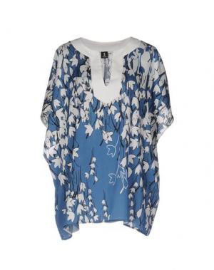 Блузка 1-ONE. Цвет: пастельно-синий