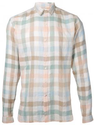 Рубашка в клетку Oliver Spencer. Цвет: многоцветный