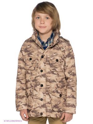 Куртка ODRI. Цвет: бежевый, темно-коричневый