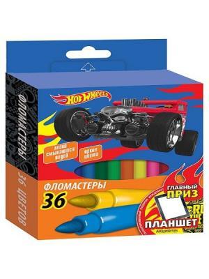 Фломастеры Mattel Hot Wheels 36 цветов. Цвет: синий