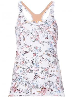 Floral print technical vest Lucas Hugh. Цвет: белый
