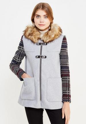 Пальто Desigual. Цвет: серый