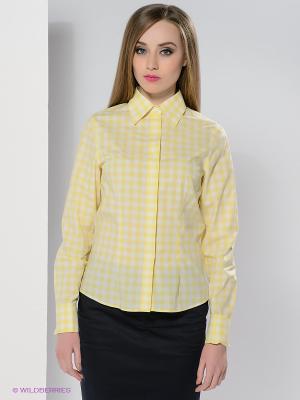 Блузка Colletto Bianco. Цвет: желтый, молочный