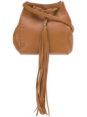 Bucket shoulder bag Henry Beguelin. Цвет: коричневый