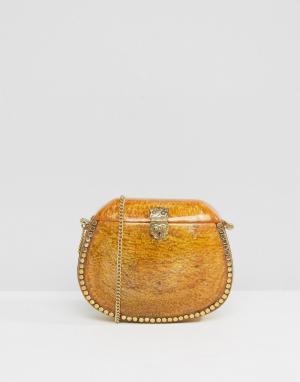 Park Lane Янтарная эмалированная сумка через плечо. Цвет: оранжевый