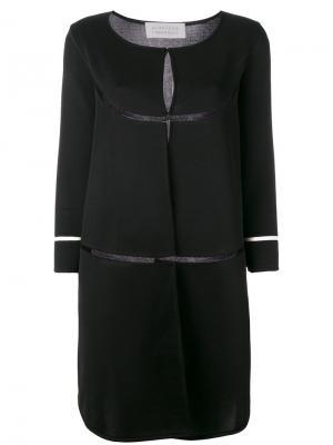 Однобортное пальто Gianluca Capannolo. Цвет: чёрный