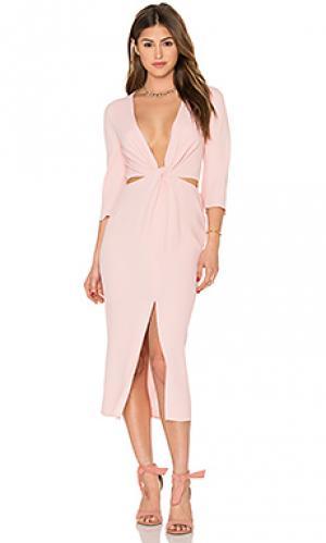 Макси платье slim dusty twist BEC&BRIDGE. Цвет: rose