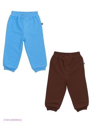 Комплект из 2-х предметов для мальчика: 2 штанов Little Me. Цвет: голубой, коричневый