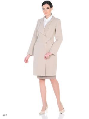 Пальто демисезонное Афродита XP-GROUP. Цвет: бежевый
