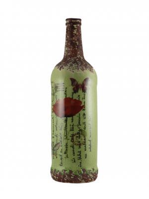 Бутыль декоративная Vintage essentic  арт.51075. Цвет: зеленый