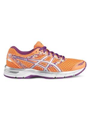 Спортивная обувь GEL-EXCITE 4 ASICS. Цвет: серебристый, оранжевый, фиолетовый