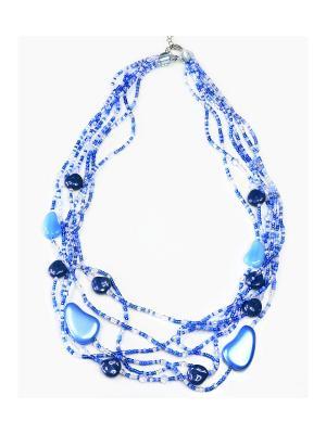Ожерелье Bohemia Style. Цвет: синий
