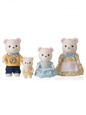 Набор Семья Белых Медведей Sylvanian Families. Цвет: коричневый, белый, светло-желтый