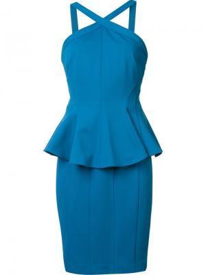 Платье Adelaide Zac Posen. Цвет: синий