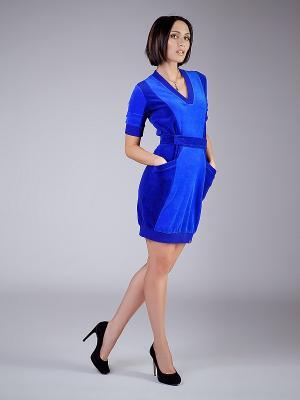 Платье NicClub. Цвет: индиго