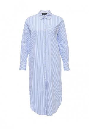 Платье Twin-Set Simona Barbieri. Цвет: голубой