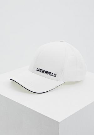Бейсболка Lagerfeld. Цвет: белый