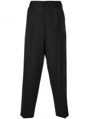 Широкие классические брюки Wooyoungmi. Цвет: серый