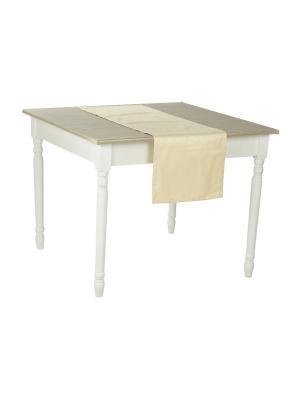 Декоративная салфетка на стол Жаккард  крем 125х40 T&I. Цвет: кремовый