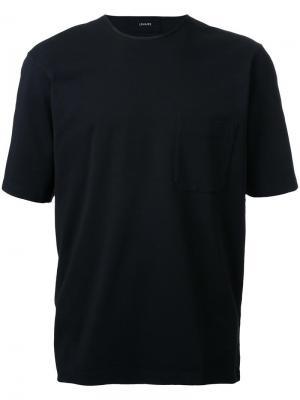 Футболка с нагрудным карманом Lemaire. Цвет: чёрный