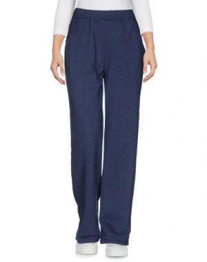 Повседневные брюки LA FABBRICA DEL LINO. Цвет: грифельно-синий