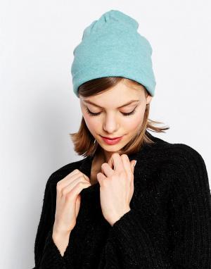 Hat Attack Свободная шапка-бини из легкого трикотажа. Цвет: синий