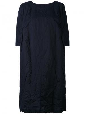 Платье шифт с круглым вырезом Daniela Gregis. Цвет: синий