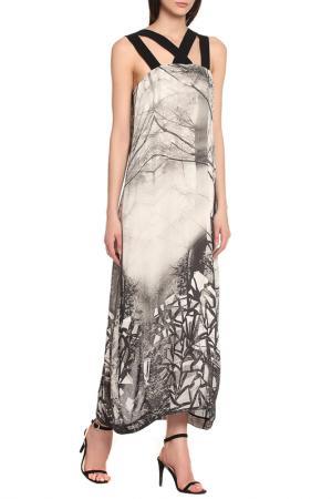 Платье Oblique. Цвет: серый