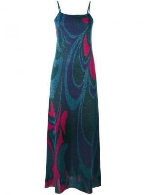 Длинное платье с эффектом металлик Circus Hotel. Цвет: многоцветный